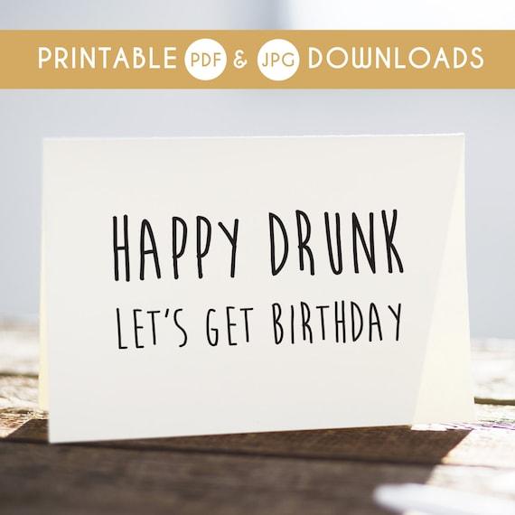 Funny Happy Birthday Cards For Boyfriend Sarcastic Birthday: Funny Birthday Card Funny Printable Card Sarcastic Birthday