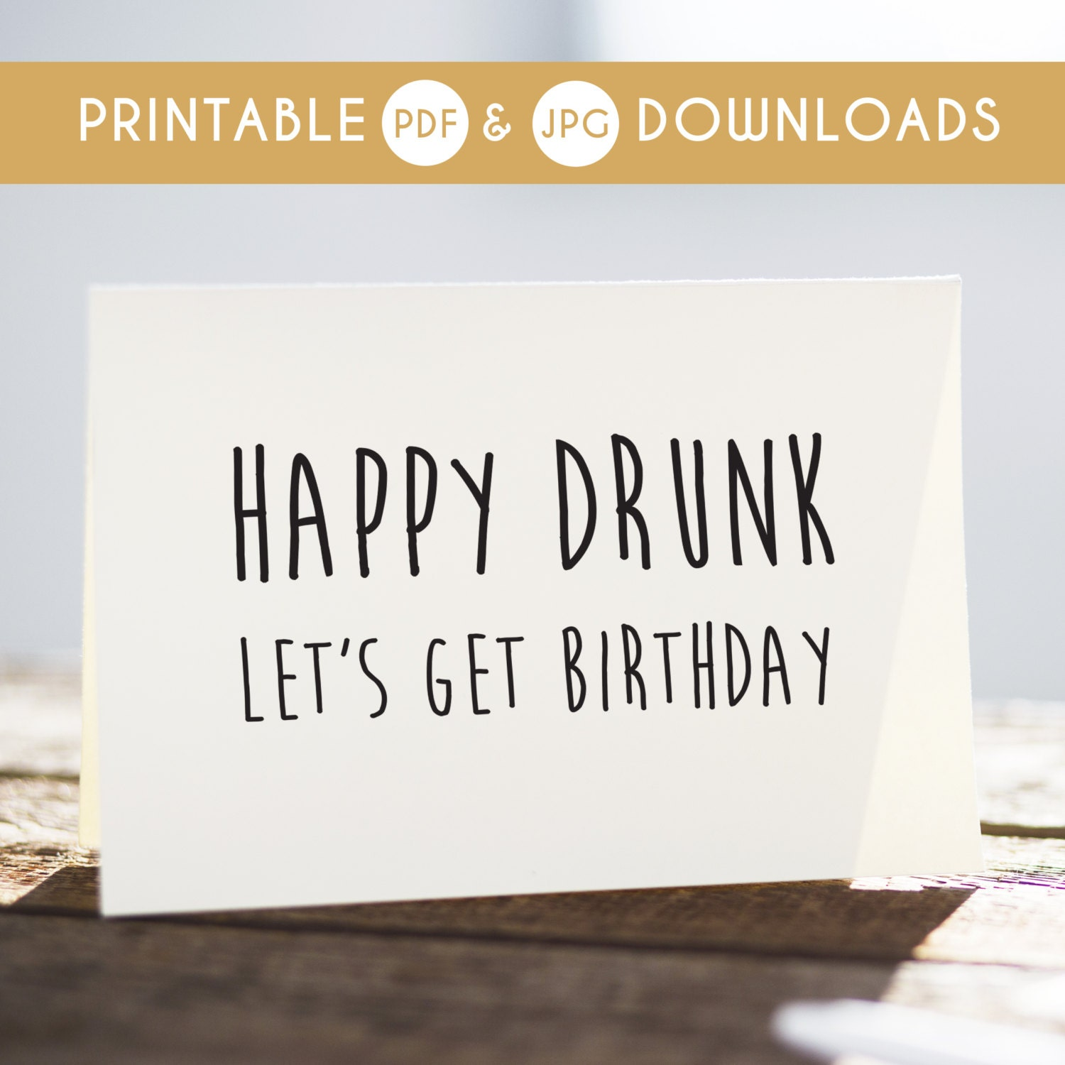 Funny Birthday Card Funny Printable Card Sarcastic Birthday
