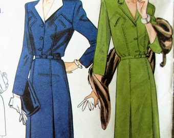 Vogue 2321 Sewing Pattern, 1940s Dress Reproduction, 1990s Sewing Pattern, Reproduction Pattern, Bust 30.5 to 32.5, 1940s Fashion Pattern