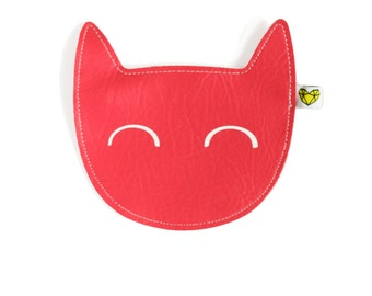 Kitty coin purse in blush pink