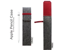 Apple Pencil Case, iPad Pro Pencil Case, Apple iPad Pro Pencil Case- Choose the Inner and Outer color- Charcoal Grey & Deep Red