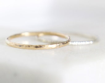 Micro-Hammered Ring • Recycled 9K Gold