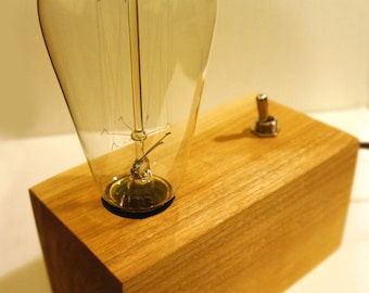 Industrial Edison Bulb Table Lamp-Block