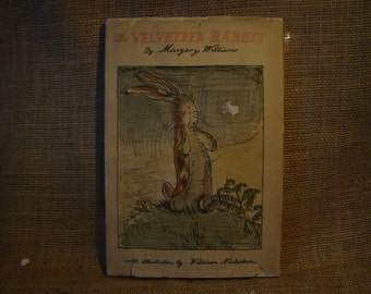 Vintage 1970s The Velveteen Rabbit with Dust Jacket