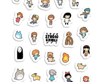 Studio Chibi ~ Studio Ghibli ~  Sticker Sheet 70mm x 100mm