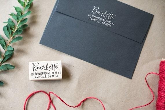 Custom Address Stamp, Wedding Address Stamp, Return Address Stamp, Self Inking Address Stamp, Wood Address Stamp, Housewarming Gift - RA8