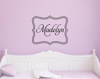 Name Wall Decal Nursery Kids Wall Decal Children Wall Decal Girl Name Decal Nursery Name Decal Girl Bedroom Decal Nursery Wall Decor