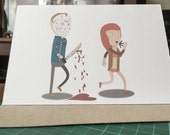 Jason Voorhees Friday the 13th Valentines Day Card (Horror Love)