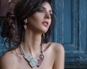 Rope Contemporary Necklace - Modern Unique Necklace - Rivet Urban Jewelry