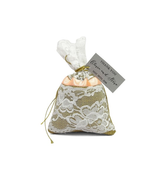 Wedding Favor Bags Lace : Lace Gift Bag, Wedding Favor Bags With Custom Tags, Rustic Wedding ...