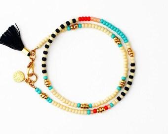Beaded Bracelet, Charm Bracelet, Friendship Bracelet, Tassel Bracelet