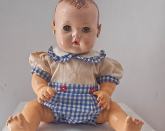 Vintage Effan Baby Doll With Orig Outfit