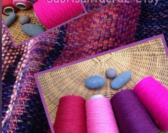 "Organic 8/2 cotton weaving yarn 4 cone set ""channeling your inner child"": Saorisantacruz"