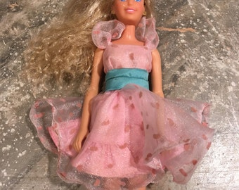 Maxie Doll in Pink and Blue Dress