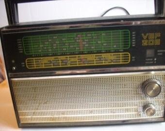 Retro  Radio Transistor,Soviet Vintage Radio,Transistor Radio VEF 206 ,Old Home Audio made in USSR 70s