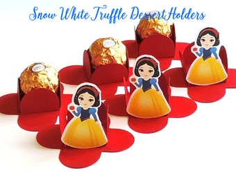 SNOW WHITE CHOCOLATE Holders, Truffle Dessert Cups, Party Favors, Thank you Boxes,Brigadeiro para Forminhas,Chocolate Holders,Mini Holders.