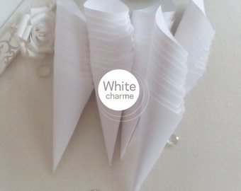 Rice/White confetti Cones door Kit or ivory-offer