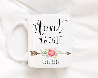 Auntie/pregnancy announcement/New baby/Aunt mug/Aunt coffee mug/coffee mug/mug/coffee cup/DISHWASHER SAFE.