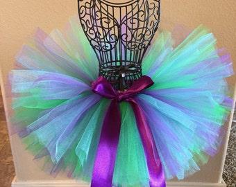 Little Mermaid Tutu, Baby Tutu, Toddler Tutu, Little Mermaid Costume, Birthday Tutu, Newborn Tutu, Mermaid Tutu, Purple and Green Tutu