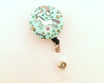 Unicorn Badge Holder/ Badge reel