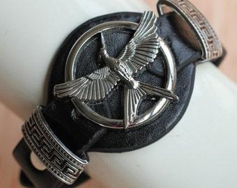 Mocking Jay emblem strap bracelet