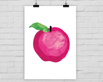 print poster APPLE aquarelle
