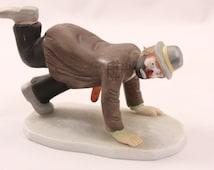 Emmett Kelly Jr. Porcelain Clown Figural.