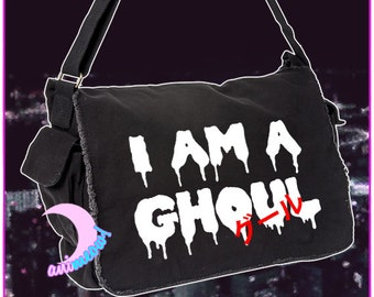 I Am A Ghoul グール Tokyo Ghoul Inspired Messenger Bag AM231