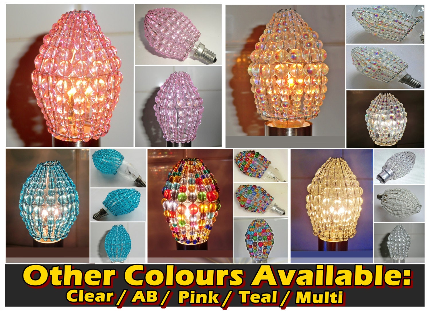 Crystal chandelier inspired glass lightbulb candle bulb cover pink gallery photo gallery photo gallery photo gallery photo gallery photo aloadofball Images
