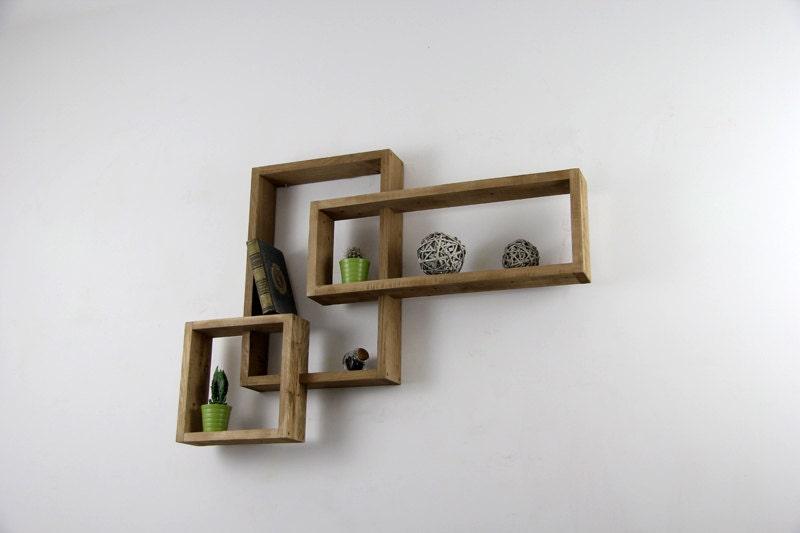 etag re murale devi en bois de palette brut. Black Bedroom Furniture Sets. Home Design Ideas