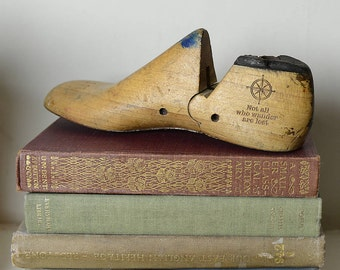 Vintage Shoe Last 'Not All Who Wonder' Quote