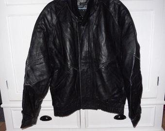 SAXONY size 40 leather jacket