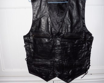 Leather vest size L