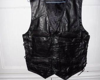 Leather vest size L