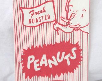 25 Peanut Paper Bags/Peanut Bags/Circus Peanut Bags/Carnival Peanut Bags/Peanuts