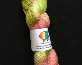 Hand dyed superwash merino/nylon sock yarn - an apple a day