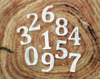 Numbers, numbers of wood, Shabby Chic Numbers white, 15 cm