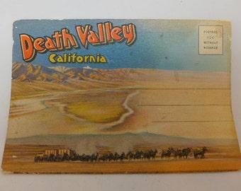 Death Valley Postcard Booklet - Flip Down Postcards - Flip Out Postcards - 1930s Postcards - Souvenir Folder Postcards