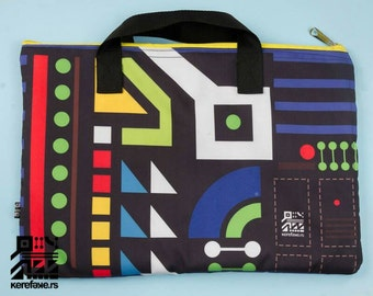 Laptop Case for 13inch, 17inch, Black,  Laptop Bag, Geometry, Sublimation printing