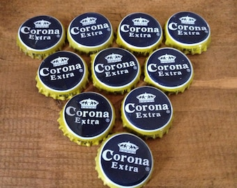 Corona Extra bottle tops (x10), crafting supplies