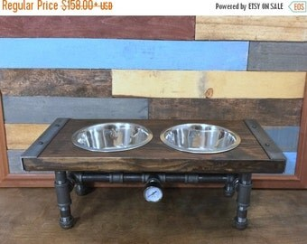 10% OFF Industrial Dog Feeder, Pet Feeder, Pet Supplies, Pet Feeding, Elevated Dog Bowl, Raised Dog Bowl, Pipe Furniture, Industrial Style