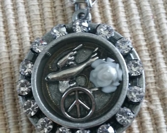 Peace Surrounded By Sparkle Pendant