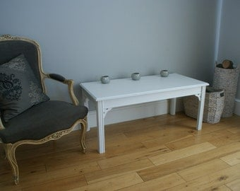 White Painted Coffee Table