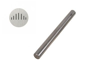 5mm Solid Vertical Angular Lined Stamp Tool for Stamping and Marking Jewelry and Metals - PUN-101.67