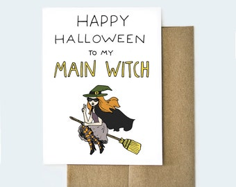 Happy Halloween to My Main Witch Card, Happy Halloween Card