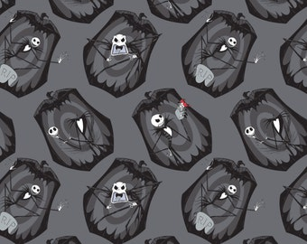 Nightmare Before Christmas Fabric Iron-The Pumpkin King Camelot Cotton BTY
