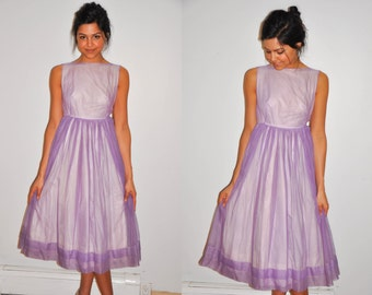 Vintage 1950s dress | lilac 50s dress • Sweet Lilac Two dress