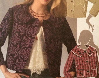 Cute Jackie Style Box Jacket Pattern McCalls 5243