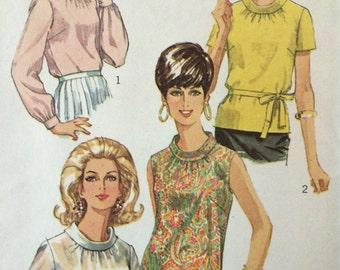 Rare Vintage 1960's Blouse Pattern Simplicity 7315