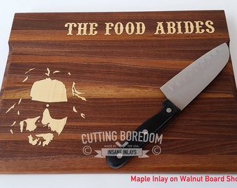 "11x14x1"" The Food Abides cutting board. Wood cutting board.Wood Chopping block.High Quality Cutting Board.Personalized cutting board."